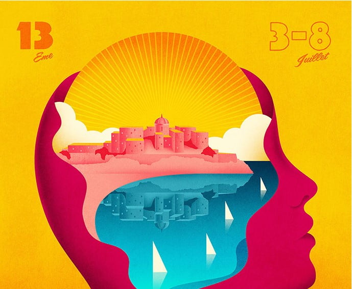 Calvi-On-The-Rocks-2015 - 38+ Awesome BEST Free Organic Shapes Poster Design [year]