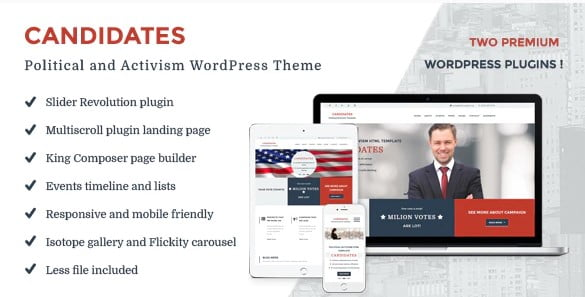 Candidates - 35+ Awesome WordPress Government Themes [year]
