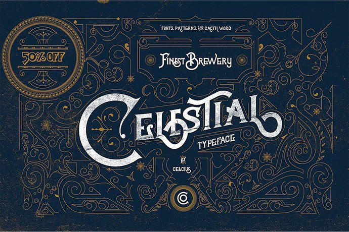 Celestial - 38+ Beautiful Fonts For Graphic Design [year]
