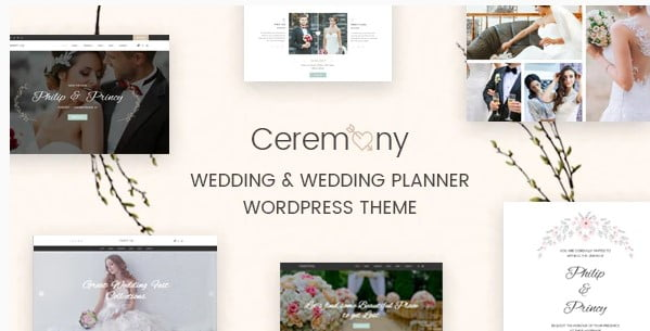 Ceremony - 35+ Nice WordPress Wedding Planner Themes [year]