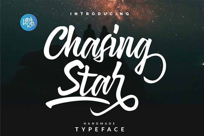 Chasing-Star - 53+ Nice T-shirt Design Hand Lettering Fonts [year]