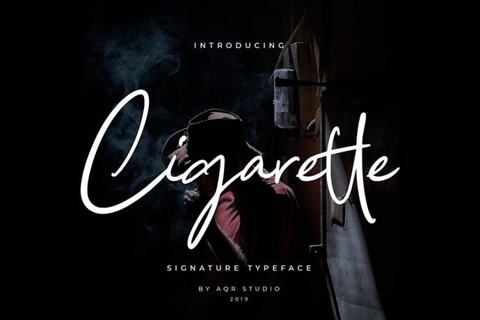 Cigarette - 38+ Attractive Handwriting & Signature Fonts [year]