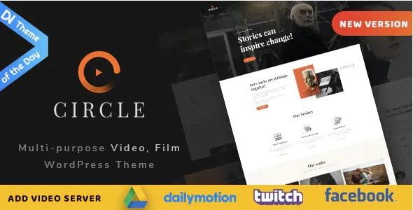 Circle-1 - 37+ Awesome Actors WordPress Themes [year]