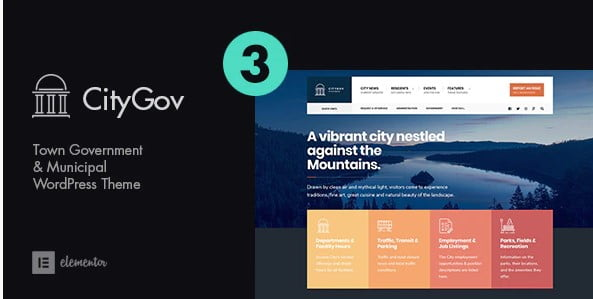 CityGov - 35+ Awesome WordPress Government Themes [year]