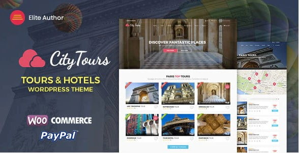 CityTours - 37+ Awesome WordPress Booking Themes [year]