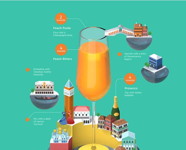 Classic-Cocktail-Recipes - 43+ BEST Free Awesome Infographic Designs IDEA [year]