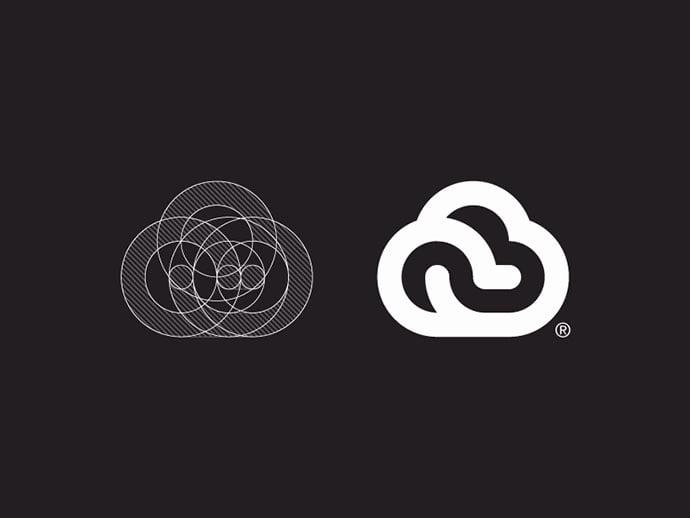 Cloud-Logo-Design - 38+ Excellent BEST Free Logo Grids Sample [year]