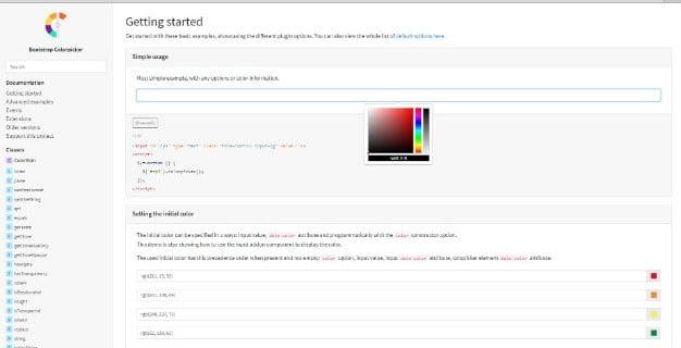 Colorpicker - 38+ Amazing 100% Free Bootstrap Web UI KIT [year]
