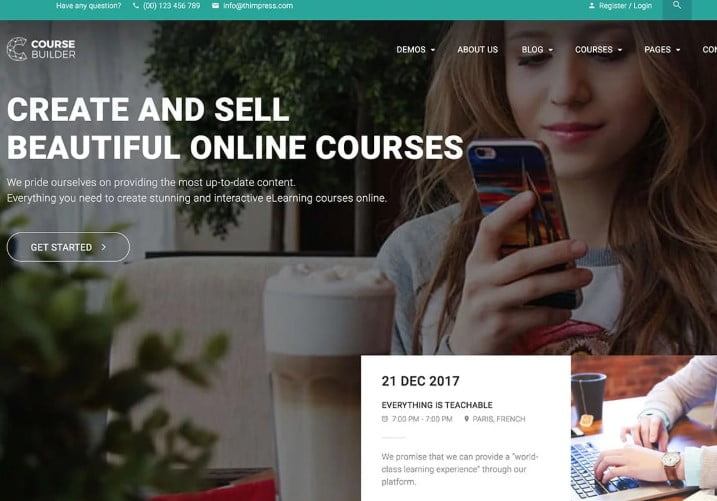 Course-Builder - 35+ Impressive WordPress Online Course Themes [year]