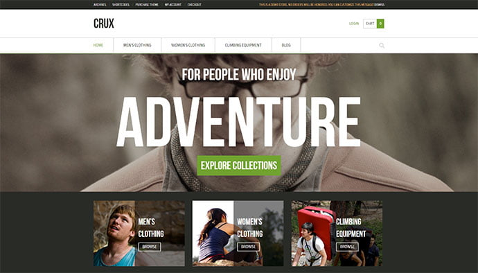 Crux - 33+ Lovely Outdoor Gear WordPress Themes [year]