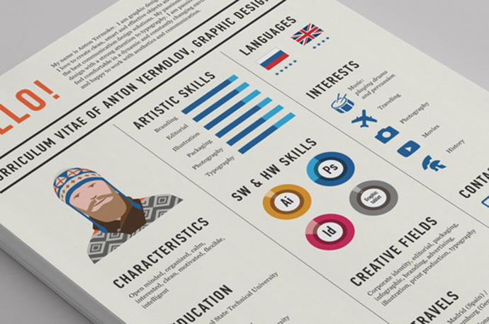 Curriculum-Vitae - 43+ BEST Free Awesome Infographic Designs IDEA [year]