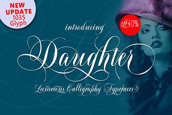 Daughter-Script - 53+ Nice T-shirt Design Hand Lettering Fonts [year]