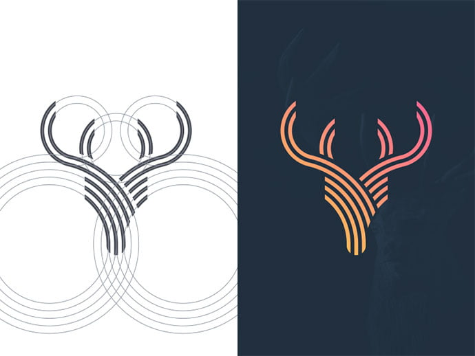 Deer - 38+ Excellent BEST Free Logo Grids Sample [year]
