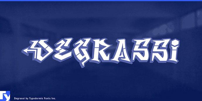 Degrassi - 38+ Lovely BEST Free Graffiti Web Fonts [year]