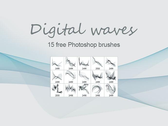 Digital-Waves - 43+ Amazing BEST Free Photoshop Brush Sets [year]