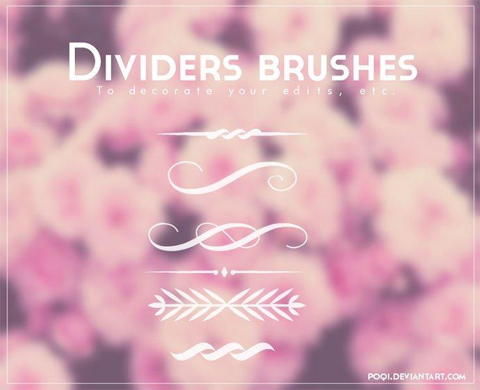 Dividers-brushes - 43+ Amazing BEST Free Photoshop Brush Sets [year]