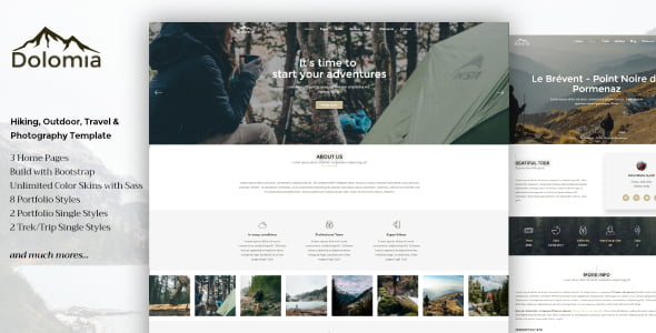 Dolomia - 33+ Lovely Outdoor Gear WordPress Themes [year]