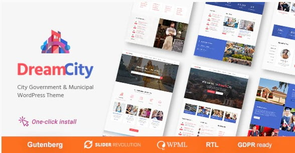Dream-City - 35+ Awesome WordPress Government Themes [year]