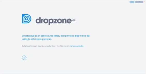 Dropzone - 33+ Important BEST Free File Upload Script Libraries [year]