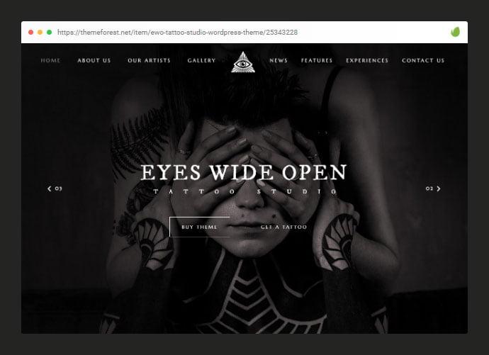 EWO - 28+ Amazing Tattoo Artist WordPress Themes [year]