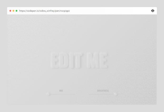 Editable - 38+ BEST Free CSS Neomorphic UI Design IDEA [year]