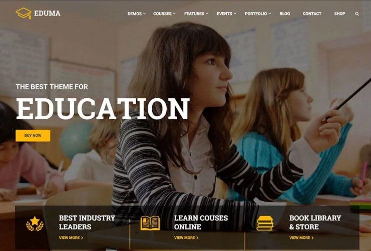 Education - 35+ Impressive WordPress Online Course Themes [year]