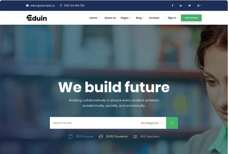 Eduin - 35+ Impressive WordPress Online Course Themes [year]