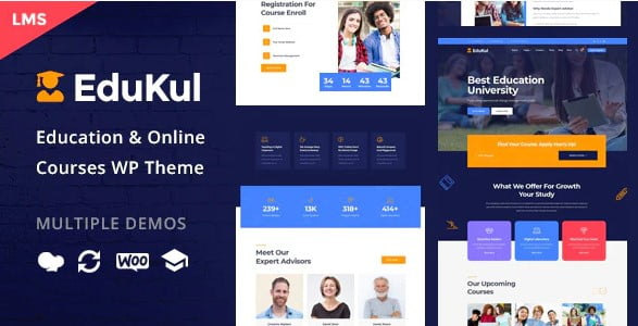 Edukul - 35+ Impressive WordPress Online Course Themes [year]