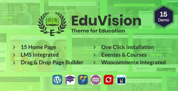 Eduvision - 35+ Impressive WordPress Online Course Themes [year]