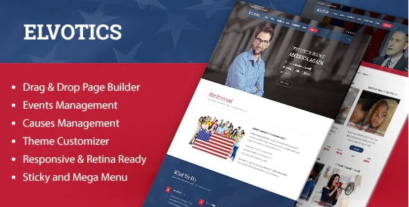 Elvotics - 35+ Awesome WordPress Government Themes [year]