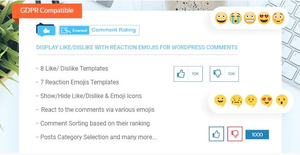 Everest-Comment-Rating - 35+ Top WordPress Comment Plugins [year]