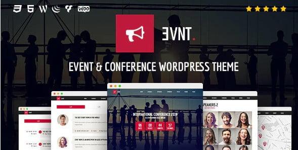 Evnt - 34+ Nice WordPress Speaker Themes [year]
