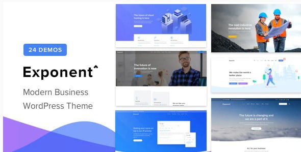 Exponent - 33+ Responsive WordPress SAAS Themes [year]