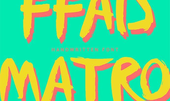 FFAD-Matro - 38+ Lovely BEST Free Graffiti Web Fonts [year]