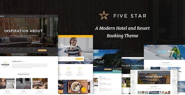 FiveStar - 37+ Awesome WordPress Booking Themes [year]