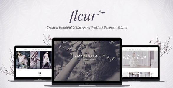 Fleur-1 - 35+ Nice WordPress Wedding Planner Themes [year]