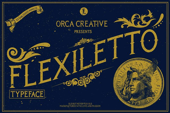 Flexiletto - 38+ Beautiful Fonts For Graphic Design [year]