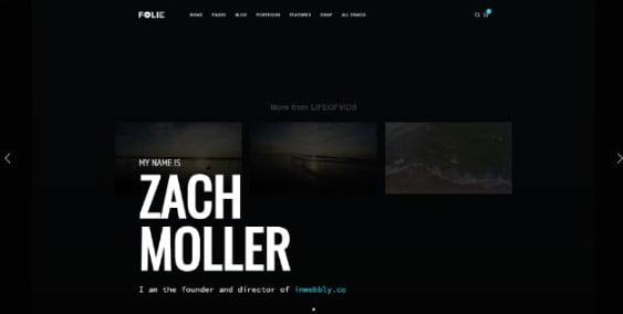 Folie - 33+ Creative WordPress Themes With About Me Page [year]