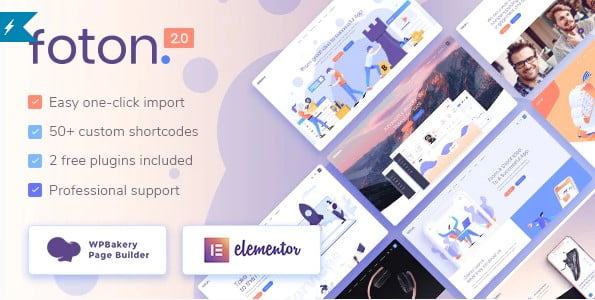 Foton - 33+ Responsive WordPress SAAS Themes [year]