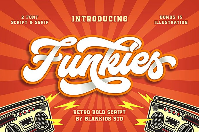 Funkies - 53+ Nice T-shirt Design Hand Lettering Fonts [year]