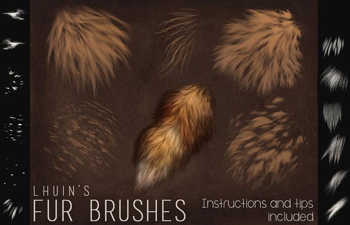 Fur-Brushes - 43+ Amazing BEST Free Photoshop Brush Sets [year]