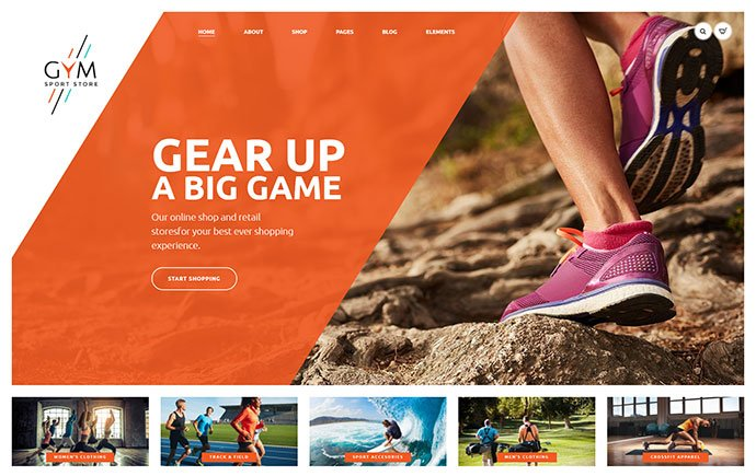 GYM - 33+ Lovely Outdoor Gear WordPress Themes [year]