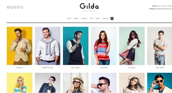 Gilda - 37+ Awesome Actors WordPress Themes [year]