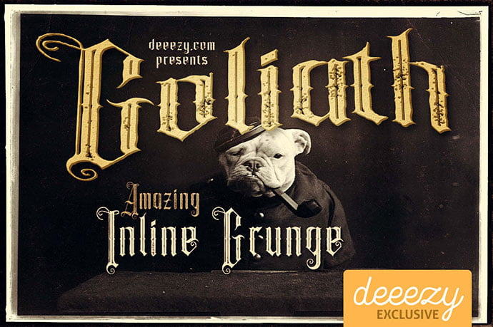 Goliath - 28+ Excellent 100% Free Blackletter Fonts [year]