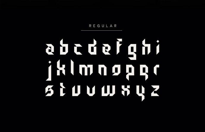 Gothic-Tangram - 28+ Excellent 100% Free Blackletter Fonts [year]