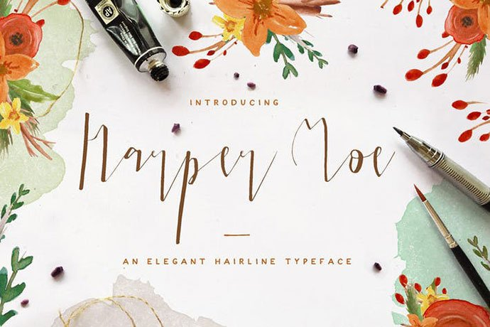 Harper-Moe - 38+ Attractive Handwriting & Signature Fonts [year]