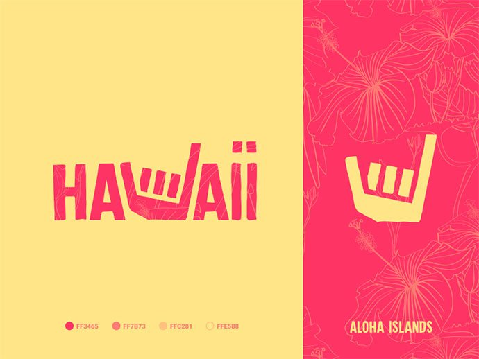 Hawaii - 38+ Nice 100% Free Letter Substitution Logo Designs [year]