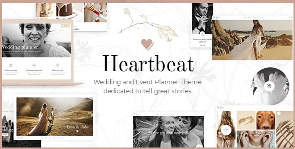 Heartbeat - 35+ Nice WordPress Wedding Planner Themes [year]