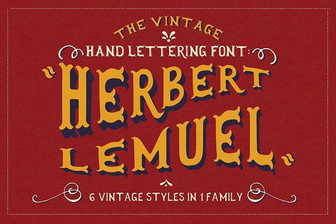 Herbert-Lemuel - 38+ Beautiful Fonts For Graphic Design [year]