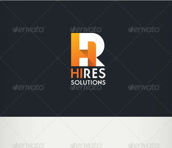 Hi-Res-Solutions - 38+ Nice 100% Free Letter Substitution Logo Designs [year]